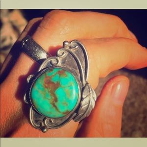 JUST SOLD  NAVAJO NATIVE STERLING TURQUOISE RING💕